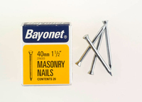 Bayonet Zinc Plated Masonry Nails (36) 40mm 36 Nails - 12208