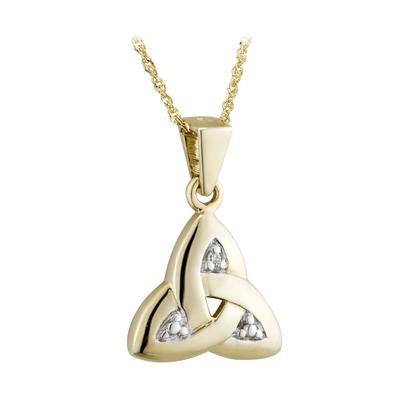 14K DIAMOND TRINITY KNOT KNOT