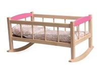Cradle W/Flower Bedding