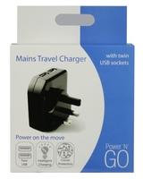 Pama 2.1Amp Dual USB Mains Charger
