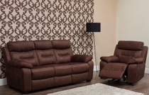 CARLOS LUXURY - CHOCOLATE 3 Seater Fixed