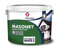Homevalue Smooth Masonry White Paint 10 Litre