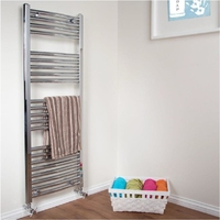 Curved Chrome Towel Rail 600mm X 1200mm