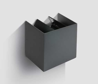 Cube Grey Wall Light 2x3W LED Warm White IP54  | LV1202.0370