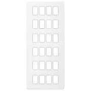 Schneider Ultimate Screwless Grid Painted White 24 Gang Ultimate Screwless LV0701.1459