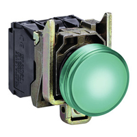 Telemecanique 24V Green Round LED Pilot Light