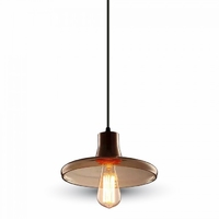 Glass Pendant Light Amber Ф235