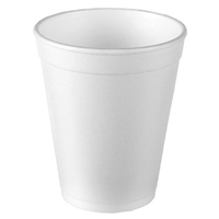7oz Disposable Foam Cups, 1000/Case