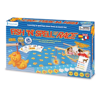 Fish & Spell Race Game - in packaging