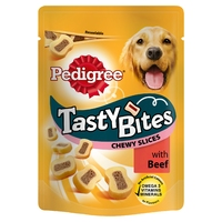 Pedigree Tasty Bites - Chewy Slices with Beef 155g x 8