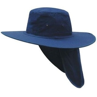 Canvas Sun Hat With Neck Flap