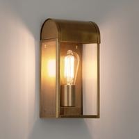 NEWBURY EXTERIOR WALL LIGHT ANTIQUE BRASS | LV1702.0129