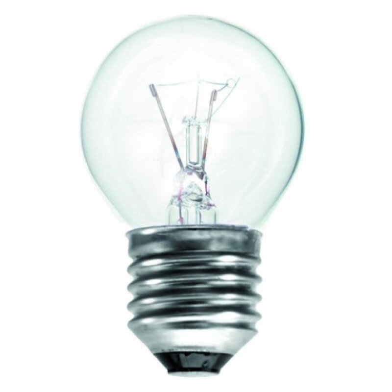 EVEREADY CLEAR GOLFBALL LAMP E27 25W ROUGH SERVICE