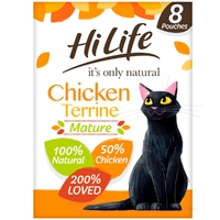 HiLife 'ION' Mature Cat Pouch Complete - Chicken Terrine 70g 8pk x 4