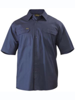 Bisley Cool Lightweight Short Sleeve Vented Cotton Shirt 155gsm