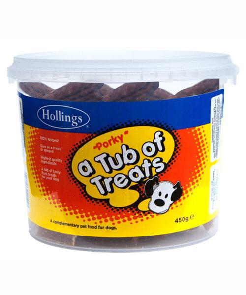 Hollings Tub Of Treats Porky 450g