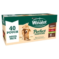 Winalot Pouches Perfect Portions - Mixed in Gravy 100g 40pk Megapack x 1