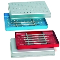 NICHROMINOX INSTRUMENT TRAY ALUMINIUM BLUE MINI 18 X 14