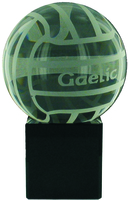 9cm Crystal Award with Gaelic Ball