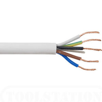 Flexible Cable 5 Core Circular White
