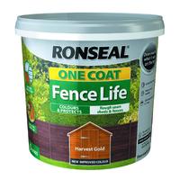 RONSEAL ONE COAT FENCELIFE HARVEST GOLD 5 LTR
