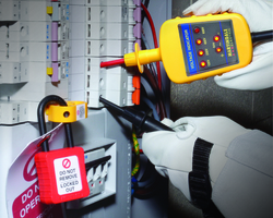 Information on electrical safety and correct procedures when working on live circuits, plus why an electrical multi-meter is not recommended to check a circuit is dead...