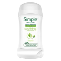 Simple Deodorant Stick Soothing 40ml