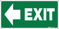 EXIT Sign With Arrow To Left