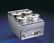 Lincat BS4W Bain Marie Wet Heat 4 x Stainless Steel Pots