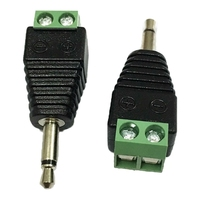 ADAPTER BNC PLUG TO AV SCREW TERMINAL PLUG 2 PINS