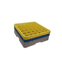 Glass Rack 36 Compartment with 2 Yellow Extenders