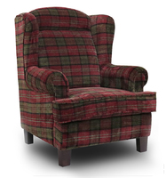 Manor Wing Chair - Red