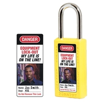 Master Lock Photo identification labels for no. 411 Zenex™ thermoplastic safety padlocks