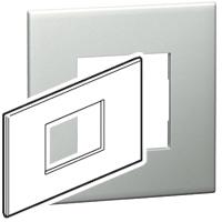 Arteor (British Standard) Plate 3 Module Square Pearl Aluminium | LV0501.0116