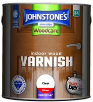 JOHNSTONES POLYURETHANE CLEAR VARNISH GLOSS 250 ML
