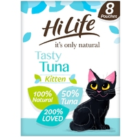 HiLife 'ION' Kitten Pouch Complete - Tasty Tuna 70g 8pk x 4
