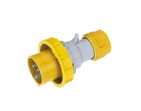 IP67 Quick Assembly Straight Plug 2 Pin + Earth 110-130V 16A
