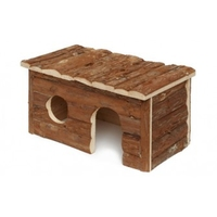 Lazy Bones Wooden Home - Large (Small Rabbit) x 1