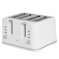 TOWER 4 SLICE TOASTER WHITE