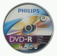 Philips DVD-R 4 7GB 16x SP 25 Pack