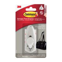 Command Medium Metal Hook Bright Chrome FC12-BC