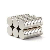 NEODYMIUM MAGNETS | DISK 10X2MM N35 NICKEL