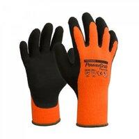 PowerGrab Thermo Winter Gloves Grey/Orange Pkt 6