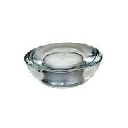 Tea Light Glass Candle Holder Round 75mm Dia