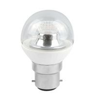 4W-(25W) 45MM LED CLEAR GOLF BALL DIMMABLE  240V BC/B22 CLEAR WARM WHITE