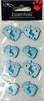 Baby Feet Blue Essential Craft Sticker.
