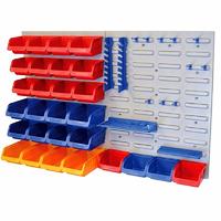 FAITHFULL Plastic Storage Bins and Tool Rack FAIPAN43