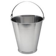 Bucket Stainless Steel  Skirted Base Graduated 12 Litre