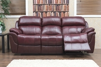Madras Wine Leather Sofa