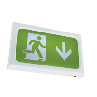 Ansell AENLED/3M/W Encore LED Exit Sign Legends White